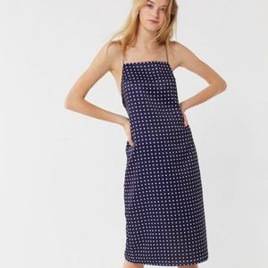 NWOT Urban Outfitters Paula Polka Dot Slip Dress L